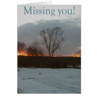 Sunset Missing You Card