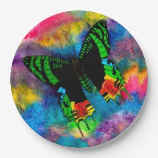 Sunset Moth Paper Plates 9 Inch Paper Plate