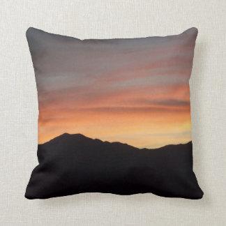 Sunset Mountain Silhouette Scenic Nature Cushion