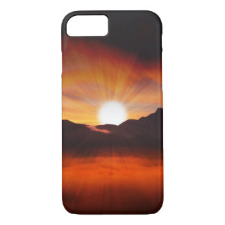 Sunset Mountain Silhouettes Nature Scenery iPhone 7 Case