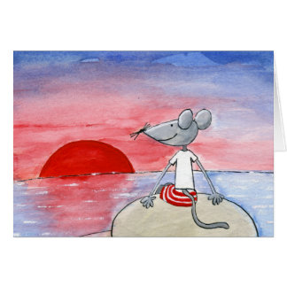 Sunset Mouse Wishing Card