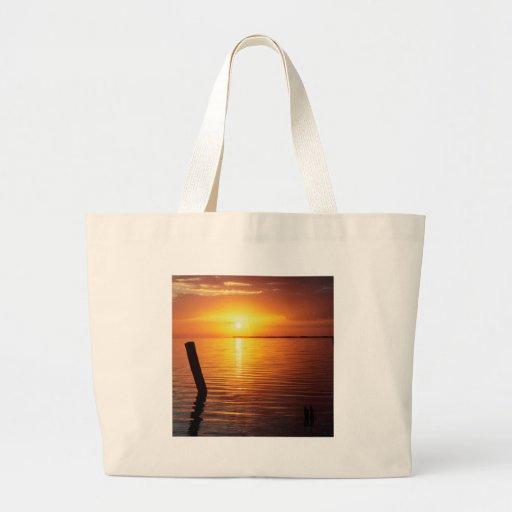 Sunset Mystic Everglades Tote Bags