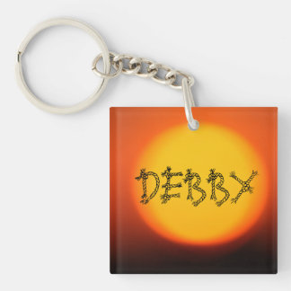 Sunset Name KeyChain