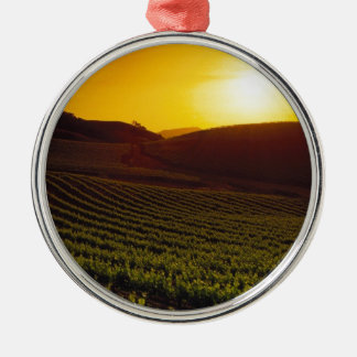 Sunset Napa Valley Christmas Ornament