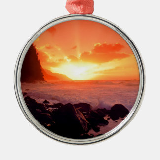 Sunset Napali Kauai Hawaii Christmas Ornament