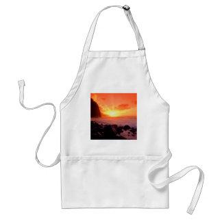 Sunset Napali Kauai Hawaii Standard Apron