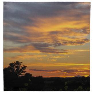 sunset napkins