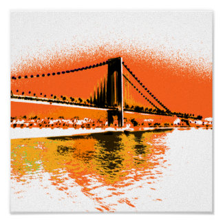 Sunset Narrows Bridge print