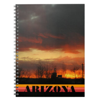 Sunset nature arizona landscape natural spiral notebook
