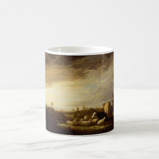 Sunset near Dordrecht, Cuyp/ アルベルト・カイプ Classic White Coffee Mug