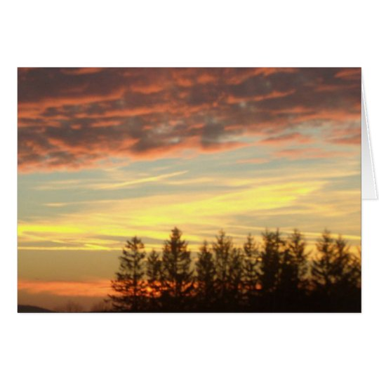 Sunset near Oakland Maryland blank notecard