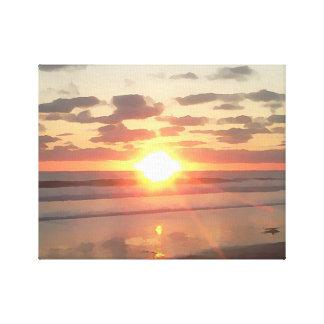 Sunset near Pacific Beach Canvas Print