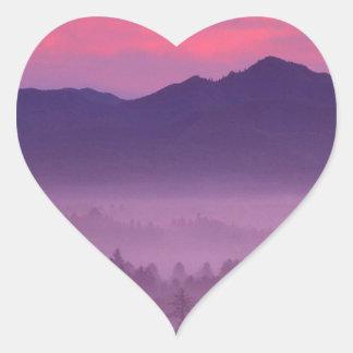 Sunset Nehalem River Valley Heart Sticker
