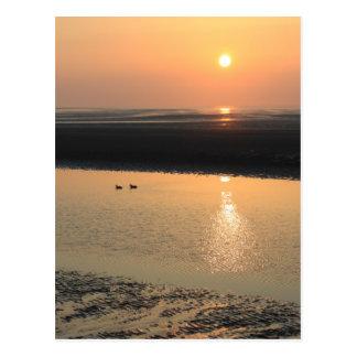 Sunset - New brighton Postcard