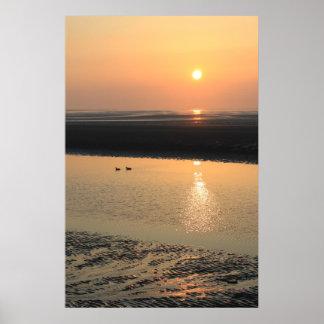 Sunset - New Brighton Poster