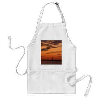 Sunset New York Harbor and Statue of Liberty USA Aprons