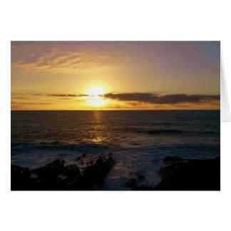 Sunset Newquay Cornwall England Card