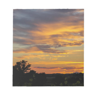 sunset notepads