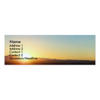 Sunset Ocean Beach Seagull Bird California Coast Pack Of Skinny Business Cards