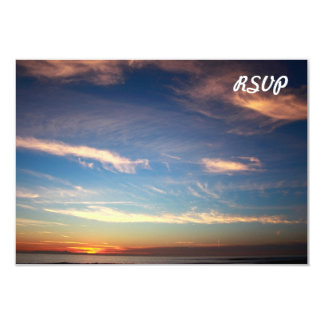 Sunset Ocean Blue 9 Cm X 13 Cm Invitation Card