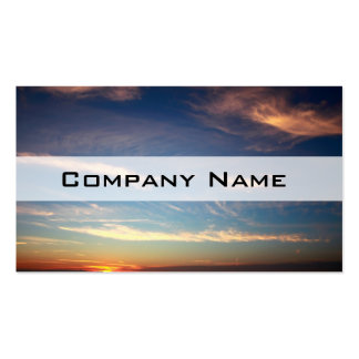 Sunset Ocean Blue Double-Sided Standard Business Cards (Pack Of 100)