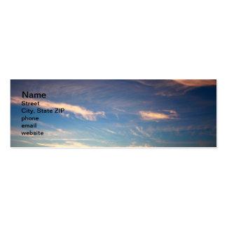 Sunset Ocean Blue Pack Of Skinny Business Cards