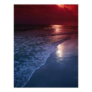 Sunset, ocean, sand, seashore, Florida, U.S.A. Personalized Flyer