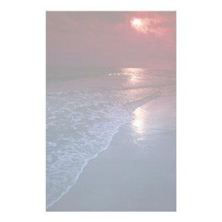 Sunset ocean sand seashore Florida U S A Customized Stationery