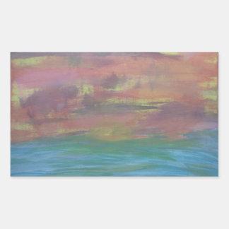Sunset Ocean Stickers