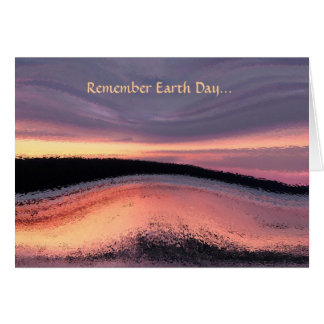 Sunset Ocean Wave Abstract Earth Day Card