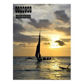 Sunset of Boracay, Philippines Postcard