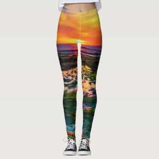 sunset of color leggings