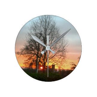 Sunset of Nottingham clock