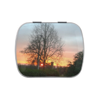 Sunset of Nottingham Jelly Belly Candy Tin
