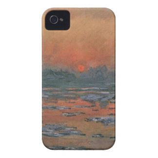 Sunset of the Seine river of winter iPhone 4 Cover