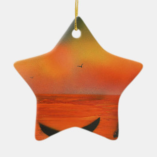 Sunset of the Whale Christmas Ornament