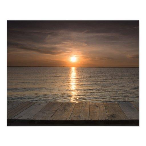 Sunset off of dock photo art