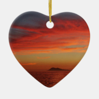 Sunset off the coast of Spain. Christmas Ornament