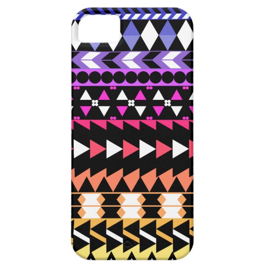 Sunset Ombre Aztec Pattern iPhone 5 Cover