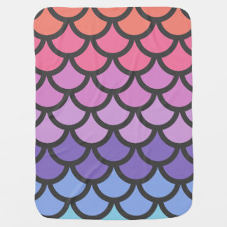 Sunset Ombre Mermaid Scales Baby Blanket