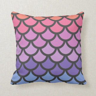 Sunset Ombre Mermaid Scales Cushion