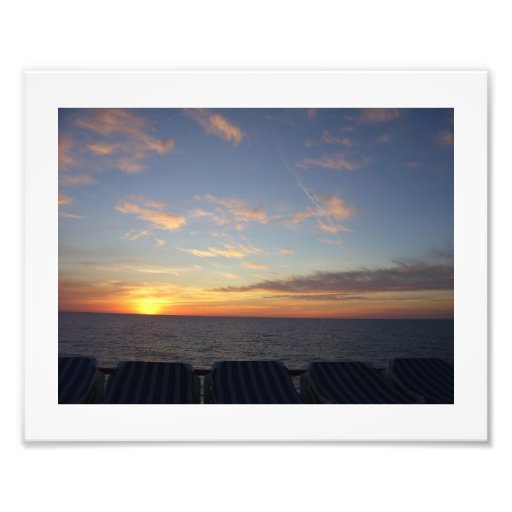 Sunset on a Cruise Photographic Print
