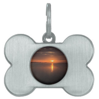 Sunset on a long summer day pet name tag