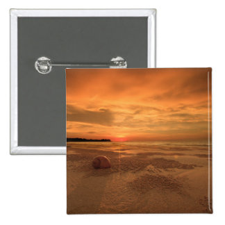 Sunset On A Thai Beach 15 Cm Square Badge
