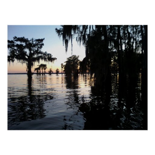 Sunset on Bayou Black, Morgan City, Louisiana Poster