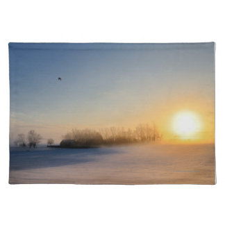 Sunset on Christmas Day in countryside Placemat