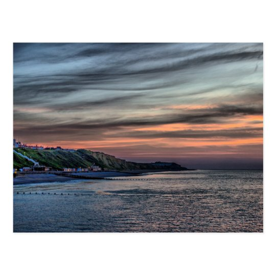 Sunset on Cromer Cliffs Postcard