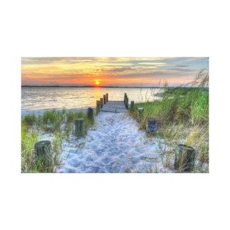 Sunset on Fenwick Island Canvas Print