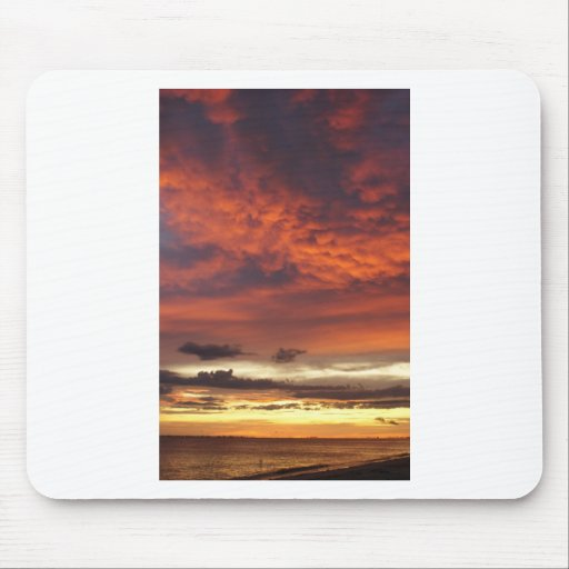 Sunset on Fort Myers Beach Mouse Pad