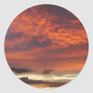 Sunset on Fort Myers Beach Round Sticker